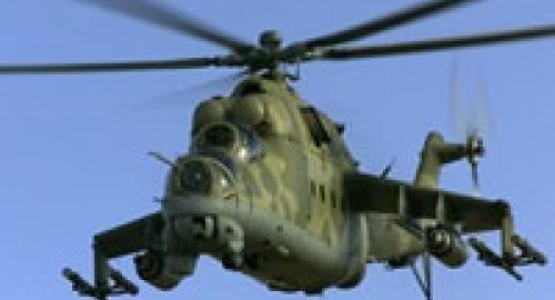 Precipitato elicottero dell'esercito